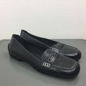 Cole Haan Nike Air Black Leather Loafers Shoes 9.5